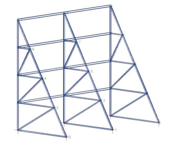 Τραπεζοειδής ή Τριγωνική Γεννήτρια Επίπεδου Δικτυώματος